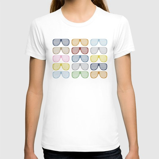 Rainbow Shutter Shades at Night T-shirt