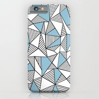 iPhone & iPod Case featuring Abstraction Lines Sky Blue by Project M