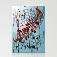 Sing A Song Of Freedom Stationery Cards