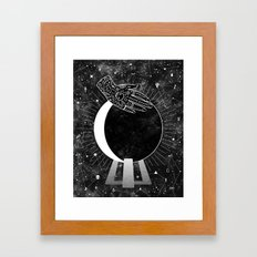 Waning Crescent Framed Art Print