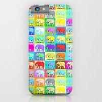 Colourful Elephants iPhone 6 Slim Case