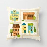 Neighborhood Throw Pillow