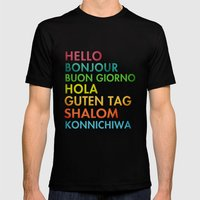 Multi Cultural Mens Fitted Tee Black SMALL