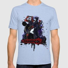 Deadpool Mens Fitted Tee Tri-Blue SMALL