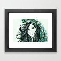 Faye Framed Art Print