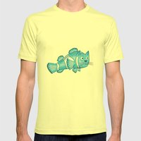 Catfish Mens Fitted Tee Lemon SMALL