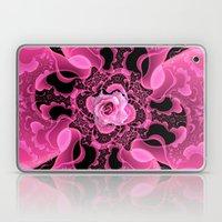 Pink And Black Rose Laptop & iPad Skin