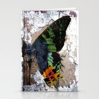 Sunset Moth Wing Abstract Stationery Cards