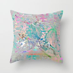 Graffiti Texture Throw Pillow
