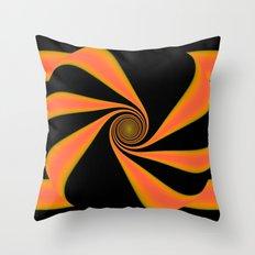 Abstract. Orange+Yellow. Throw Pillow