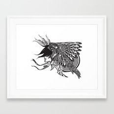 Indian Headdress Framed Art Print
