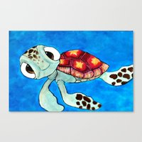 Squirt From Finding Nemo Canvas Print