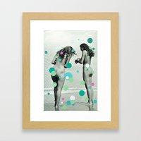 Chasing Bubbles Framed Art Print