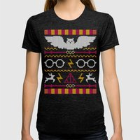 The Sweater That Lived Womens Fitted Tee Tri-Black SMALL