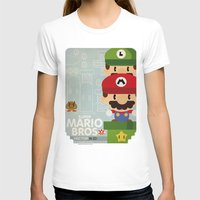 Mario Bros 2 Fan Art Womens Fitted Tee White SMALL