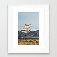 Framed Art Print featuring Skydive by Danielle Podeszek