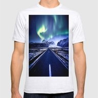 Road To Aurora  Mens Fitted Tee Ash Grey SMALL