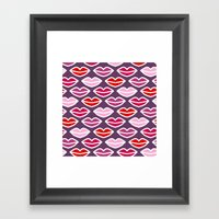 KISSES FOR YOU Framed Art Print