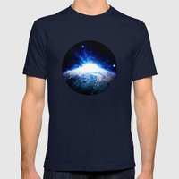 Sanctus Mens Fitted Tee Navy SMALL