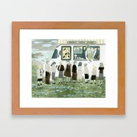Ice Cream Queue Framed Art Print