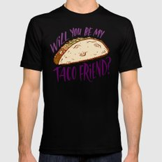 Taco Friend SMALL Mens Fitted Tee Black