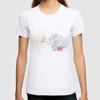 One Elephant Band Womens Fitted Tee Ash Grey SMALL