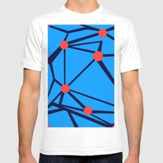 3 Red Dots Mens Fitted Tee White SMALL