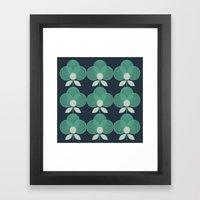 MCM Trois en Aqua Framed Art Print