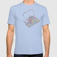 teapot / tetera Mens Fitted Tee Tri-Blue SMALL