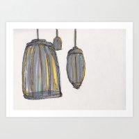 Birdcages Art Print