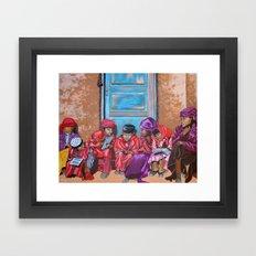 Muslim Children Framed Art Print