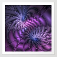Fractal A Moment In Time Art Print