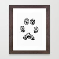 Cat Paw Print Framed Art Print