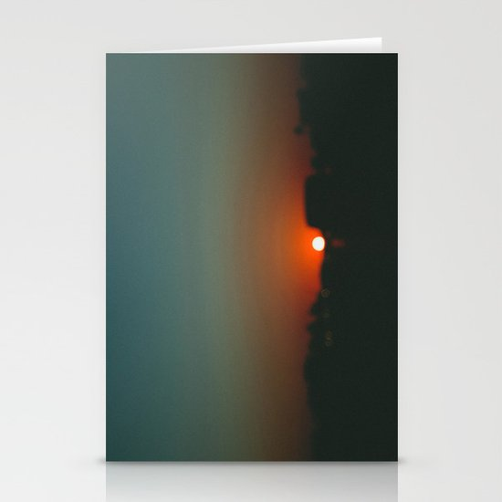 west at sunset Stationery Card