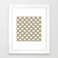 Trellis Pattern I Framed Art Print
