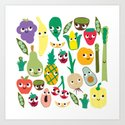 Fruit And Veggie Madness Art Print