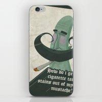 Tar mustache iPhone & iPod Skin