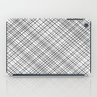 Weave 45 Black And White iPad Case