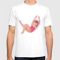 Hairy Bather Mens Fitted Tee White SMALL