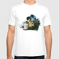 AiVee portrait | Collage Mens Fitted Tee White SMALL