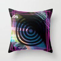 Abstract Record Label Throw Pillow