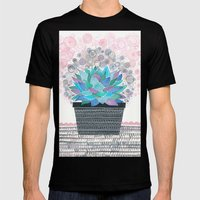 succulent Mens Fitted Tee Black SMALL