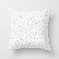 Speckles I: Rose Quartz & Serenity on Snow Throw Pillow