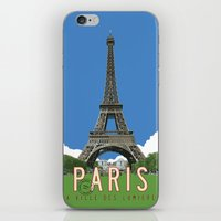 Paris Travel Poster - Vi… iPhone & iPod Skin