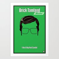 Brick Tamland: Weather Art Print