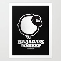Baaadass The Sheep Art Print
