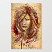 Olivia Wilde Digital Pai… Canvas Print