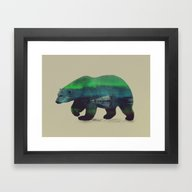 Framed Art Print featuring Polar Bear In Northern L… by Andreas Lie