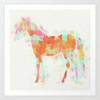 Oh, Hi, Horse Art Print