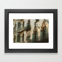Passeig de Gracia  Framed Art Print